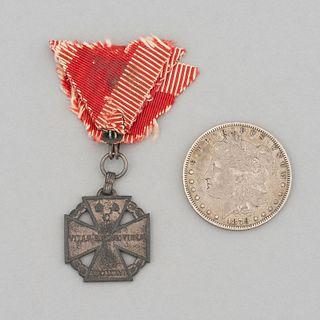 """Lote de dólar """"Morgan"""" y medalla de veterano de la Gran Guerra Karl-Truppenkreuz.  EE.UU. y Austria-Hungría, siglo XIX - XX. Pz: 2."""