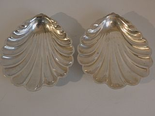 PAIR GORHAM STERLING SHELL DISHES