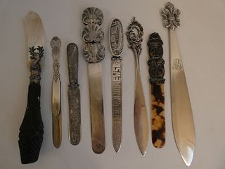 8 STERLING LETTER OPENERS
