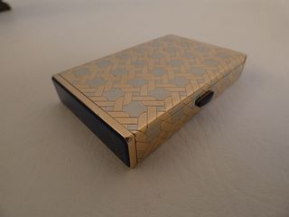 TIFFANY 14K GOLD & LAPIS BOX