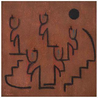 ALICE RAHON, Sin título, Firmado, Óleo y polvo de mármol sobre masonite, 40 x 40 cm, Con constancia