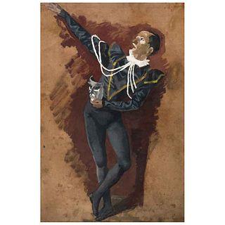 ANGELINA BELOFF, Sin título, Firmado, Óleo sobre papel, 66 x 44 cm