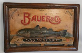FISH MERCHANT TRADE SIGN