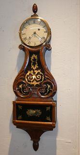 LYRE CLOCK BY WALTER DURFEE, RI