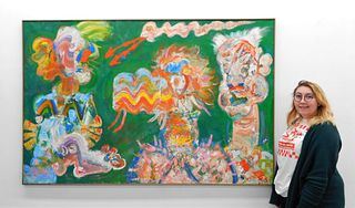 Robert Beauchamp Monumental Abstract Painting