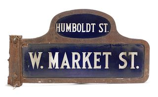 Double Sided Porcelain Street Sign