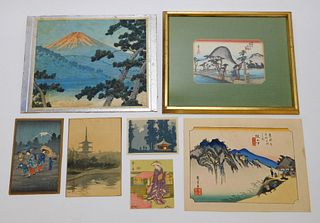 7PC Japanese Woodblock Print Group