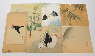 6PC Japanese Avian & Animal Woodblock Prints