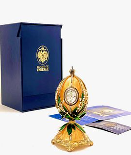 The Lilly of The Valley, House of Faberge Egg Clock