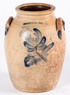 Pennsylvania stoneware crock, 19th c.