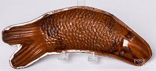 Pennsylvania redware fish mold, 19th c.