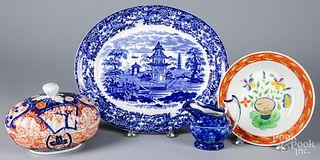 Wedgwood blue and white porcelain platter