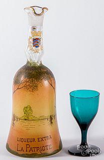 Amethyst glass cordial, etc.