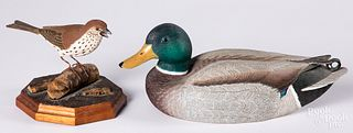 Carved and painted duck decoy by R.R. Spillman