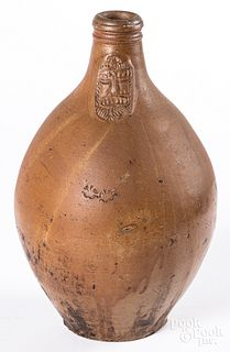 German stoneware bellarmine jug, 17th/18th c