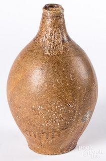 German stoneware bellarmine jug, 17th/18th c.