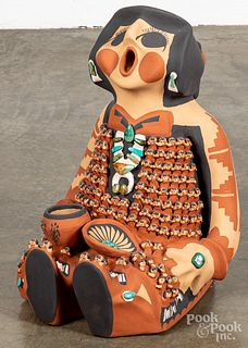 Caroline Sando pottery storyteller figure