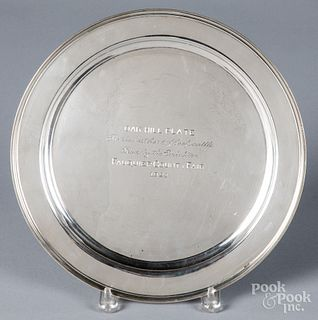 Sterling silver trophy tray