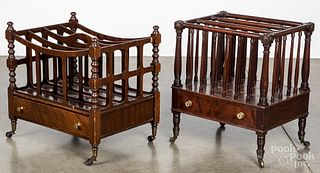 Regency mahogany canterbury, together with another