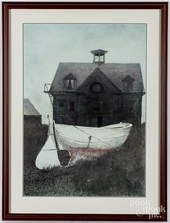 Andrew Wyeth print, Liberty Launch