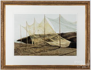 Andrew Wyeth signed collotype, Pentecost #244/300