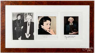 Andy Warhol and Jamie Wyeth exhibition brochure