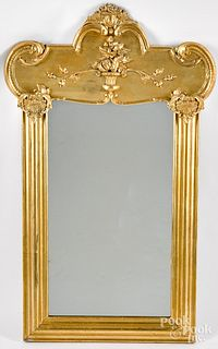 Giltwood mirror, 19th c.