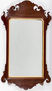 Chippendale mahogany mirror, ca. 1800