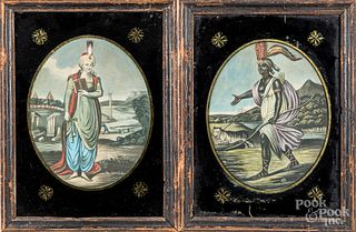 Two early prints of Asia and Africa, etc.