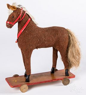 Horse pull toy, early 20th c.