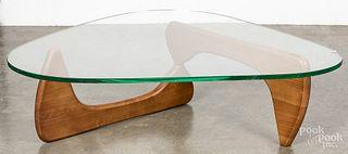 Isamu Noguchi glass top coffee table