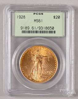 1928 St. Gaudens twenty dollar gold coin