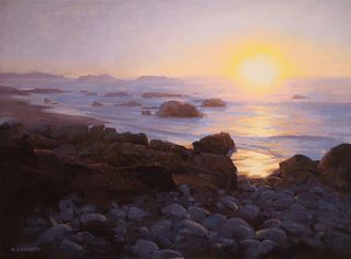 LAURIE KERSEY, Sunset on the Rocks