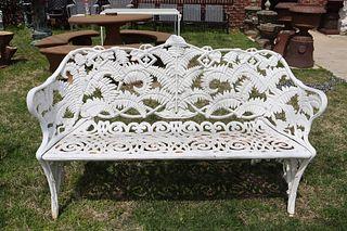 "Antique Cast Iron Fern Bench ""The Cramer"""