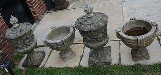 2 Pairs Of Antique Portland Urns.