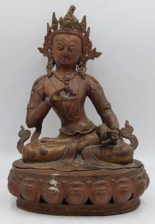 20th C Nepalese Bronze Buddha.