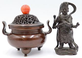 Antique Chinese Bronze Grouping.