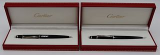 (2) Cartier Diabolo Writing Implements.