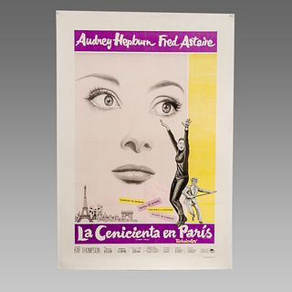 Vintage Poster of Audrey Hepburn Fred Astaire.