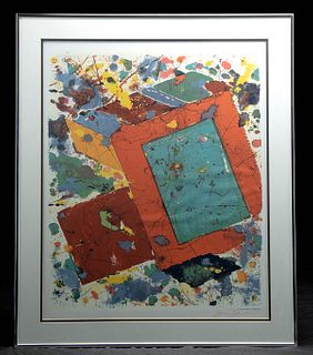 Signed Sam Francis Lithograph of Monotype