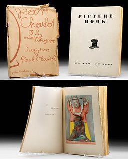 """Signed Jean Charlot """"Picture Book"""" w/ Dust Cover, 1933"""