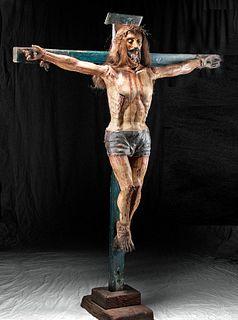 18th C. Mexican Wood Crucifix / Devotional Art