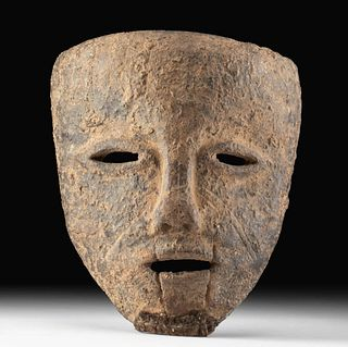 Rare 19th C. African Azande Wood Mask Mani Society