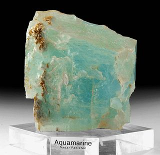 Huge Raw  Aquamarine Crystal - 5953.4 Carats
