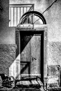 JAMES HIRSCHINGER, Cinque Terre Door Shadows
