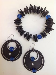 MARIROSE JELICICH, Earrings with Matching Bangle