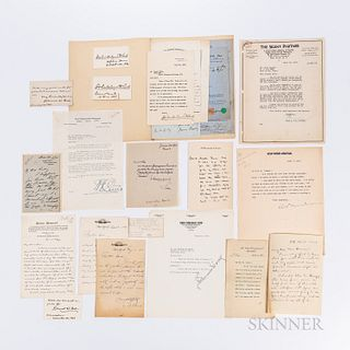 Twenty-four Letters and Autographs of American Journalists and Newspaper Editors