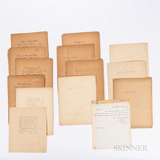 Approximately Sixty Early 20th Century Signed Cards and Letters from Members of Congress and State Politicians,