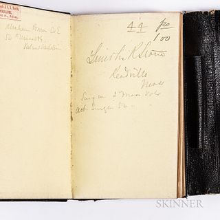 Lincoln Ripley Stone, Surgeon to the 54th Massachusetts Volunteer Infantry Regiment, 1863 Civil War Diary and Related Items
