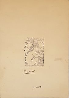 Escultor y Modelo, A PICASSO ETCHING PRINT, Signed